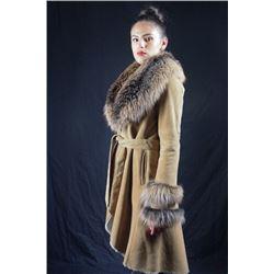 Alaska Fur Merino Belted Jacket
