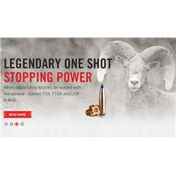 $250 Gift Certificate for Barnes Bullets and Products