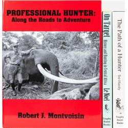 Three Central Africa Hunting Books by French Professional Hunters