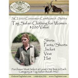 $200.00 Certificate for Women's Safari Clothing