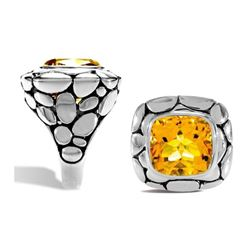 Stirling Silver Citrine Ring