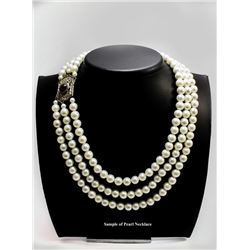 Ohrid Pearl Necklace, Earrings and Bracelet