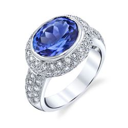 Natural Tanzanite & Diamond Ring