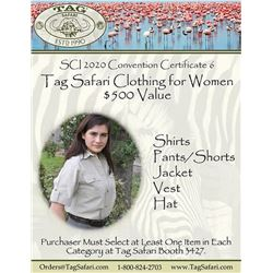 $500.00 Certificate for Women's Safari Clothing