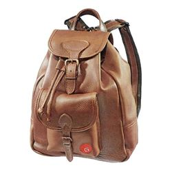 Small Moose Leather Backpack