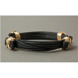 Synthetic Elephant Hair Bracelet 14K Gold Fill Knots
