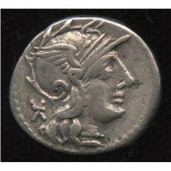 Ancient - Roman Republic - Moneyer: Ti. Minucius C.f. Augurinus. 134 BC. AR Denarius