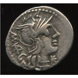 Ancient - Roman Republic - Moneyer: M. Vargunteius. 130 BC. AR Denarius