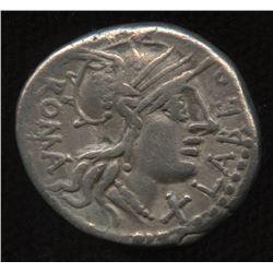 Ancient - Roman Republic - Moneyer: Q. Fabius Labeo. 124 BC. AR Denarius