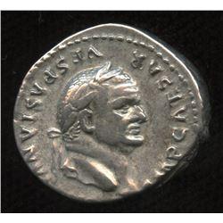 Ancient - Roman Imperial - Vespasian. 69-79 AD. AR Denarius