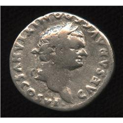 Ancient - Roman Imperial - Domitian, as Caesar. 69 - 81 AD. AR Denarius, struck under Vespasian
