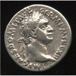 Ancient - Roman Imperial - Domitian, as Augustus. 81 - 96 AD. AR Denarius