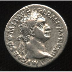 Ancient - Roman Imperial - Domitian, as Augustus. 81 - 96 AD. AR Denarius