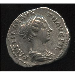 Ancient - Roman Imperial - Faustina II (died 175 AD). AR Denarius, struck under Antoninus Pius