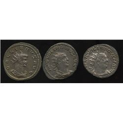 Ancient - Roman Imperial - Father & Son, 3rd Century Emperors. Billon Antoninianus. Lot of 3