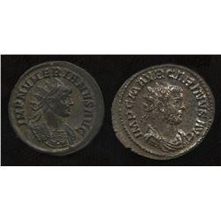 Ancient - Roman Imperial - Brothers, 3rd Century Emperors. Billon Antoninianus. Lot of 2