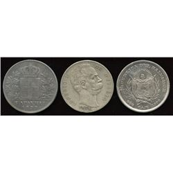 Italy, Greece, ElSalvador - Lot of 3 Better Coins