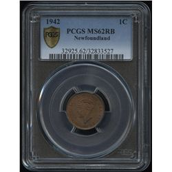 1942 Newfoundland One Cent
