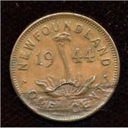 1944 Newfoundland One Cent - Delamination
