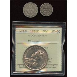 Newfoundland Coins - Lot of 3