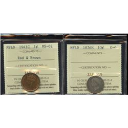 Newfoundland - Lot of 2 ICCS Graded Coins