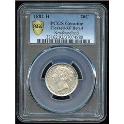 1882H Newfoundland Twenty Cents