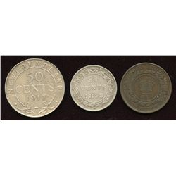 Lot of three Provincial Coins