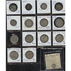 Lot of 31 Newfoundland Coins
