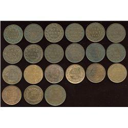 Lot of 20 Canada Large Cents & Token Bonus'