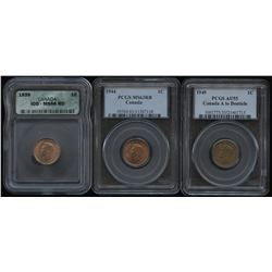 1939, 1944 & 1949 - Lot of 3 Graded Coins