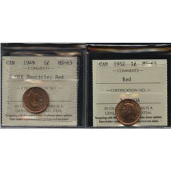 Pair of George VI One Cents