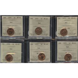 Lot of 14 ICCS & CCCS Graded One Cents