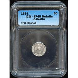 1891 Five Cents