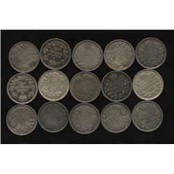 Collection of George V Five Cents Silver