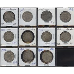 Fifty Cents - Lot of 11 Coins