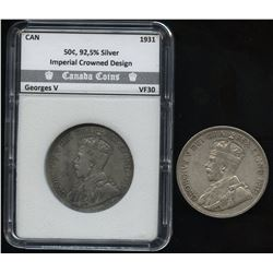 1931 & 1936 Fifty Cents