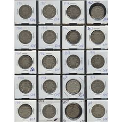 Collection of 37 Silver Fifty Cents