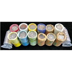 Lot of 14 Rolls of Fifty Cents
