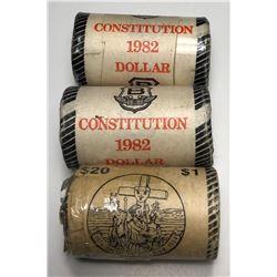 Constitution & Cartier - Lot of 3 Nickel Dollar Rolls