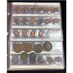 Canadian Coin Collection - housed in book