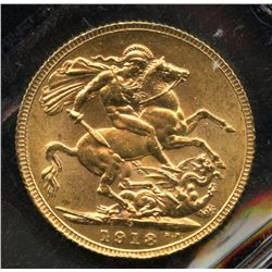1918c Gold Sovereign