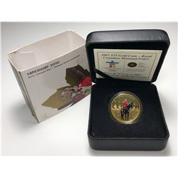 2007 Royal Mounted Police $75 Gold Coin