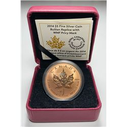 2014 $5 Bullion Replica with WMF Privy Mark