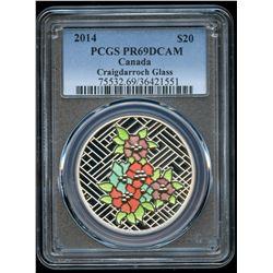2014 Craigdarroch Glass $20 Silver Coin