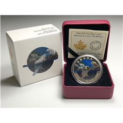 2016 $20 CANADA GEOMETRY IN ART - THE BEAVER FINE SILVER (NO TAX)