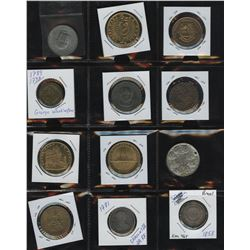 Mini Treasure Chest - Lot of 24 Medallions, Tokens and Foreign Coins