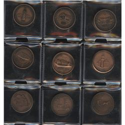 ONA & Waterloo Coin Society - Lot of 21 Medals