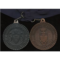 University of Toronto 55 & 60 Chancellor's Circle Medal - Lot of 2