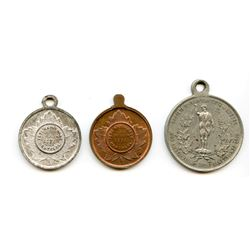 LEROUX MEDALS. Lot of 3 LeRoux medals.