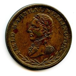 WELLINGTON TOKEN. COURTEAU 27. Breton 972. Withers 1499. CH WE-2B4.